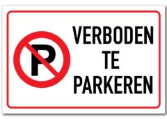 Op bedrijventerrein Veluwsekant Oost in Almere Stad is een parkeerverbod ingesteld.